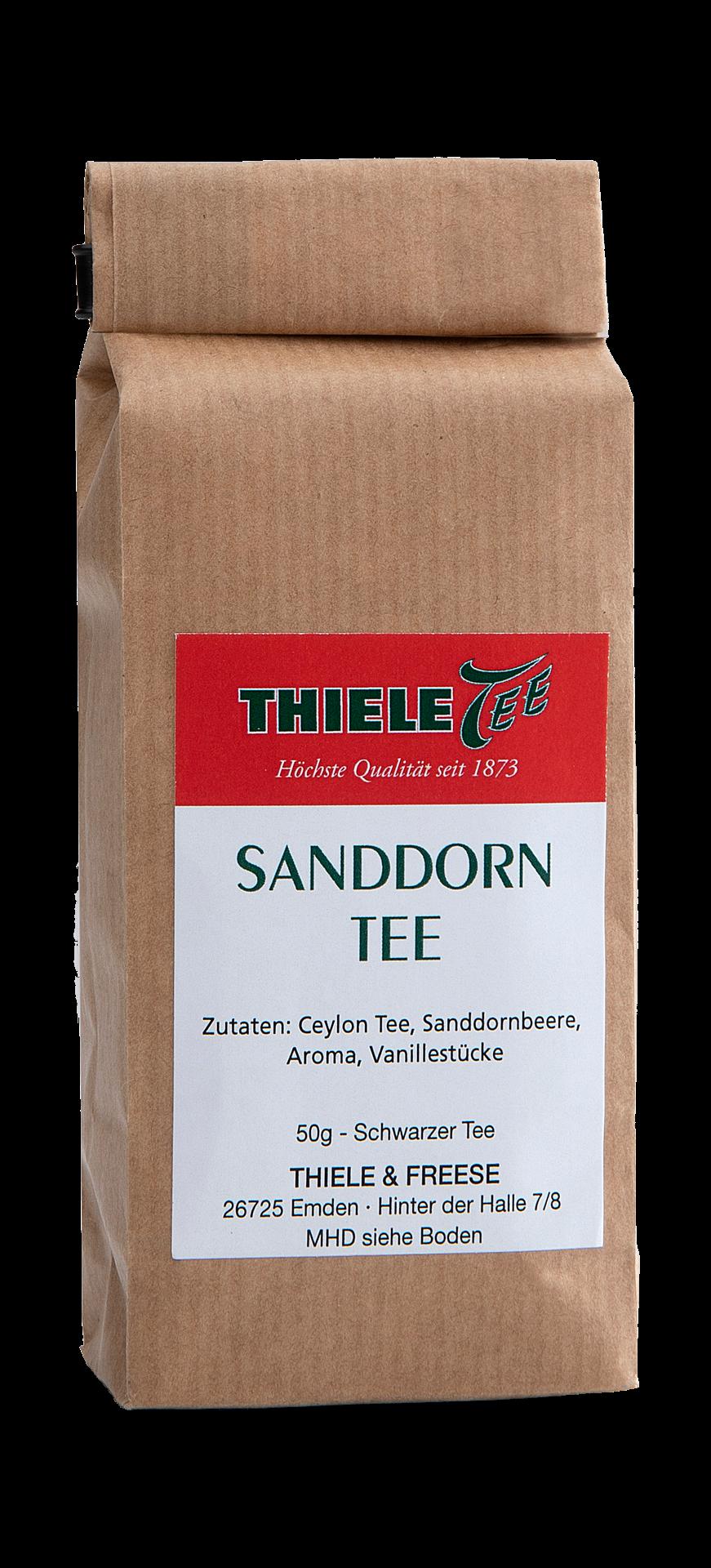 Schwarztee Sanddorn mit Vanille 50g