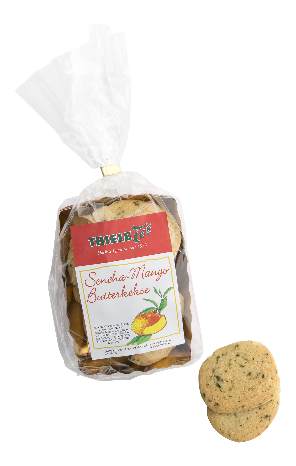 THIELE TEE Grüner Tee Sencha-Mango Kekse