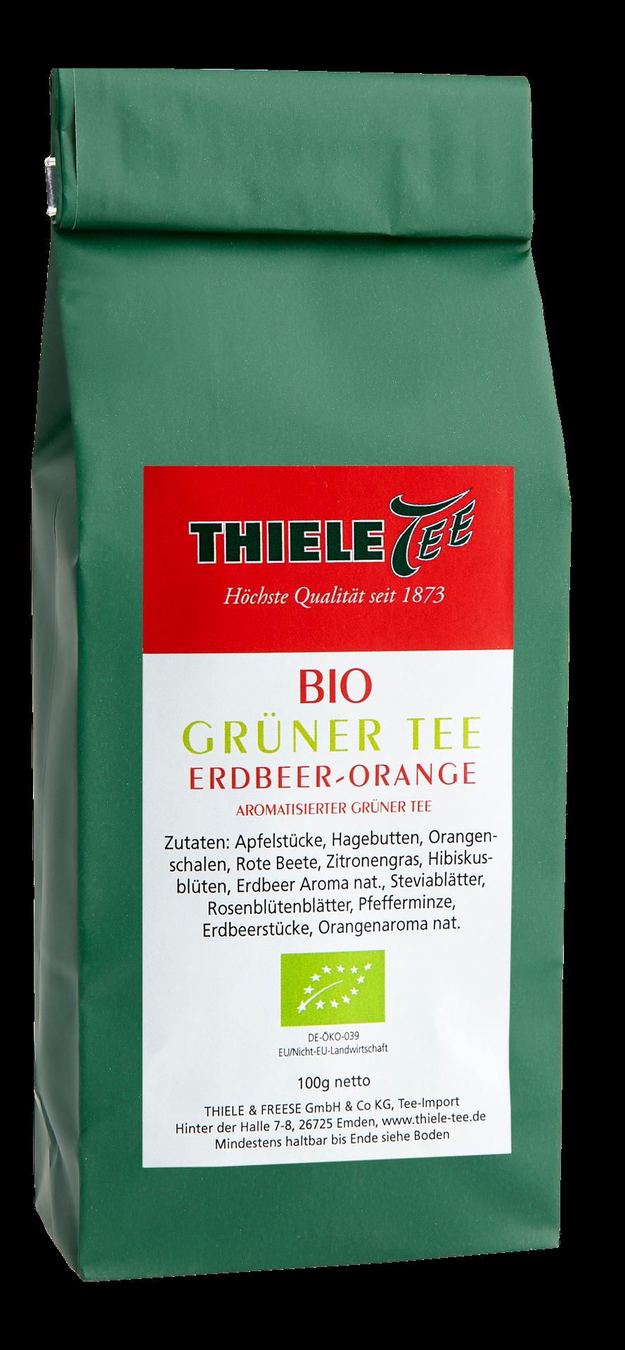 BIO Grüner Tee Erdbeer-Orange 100g