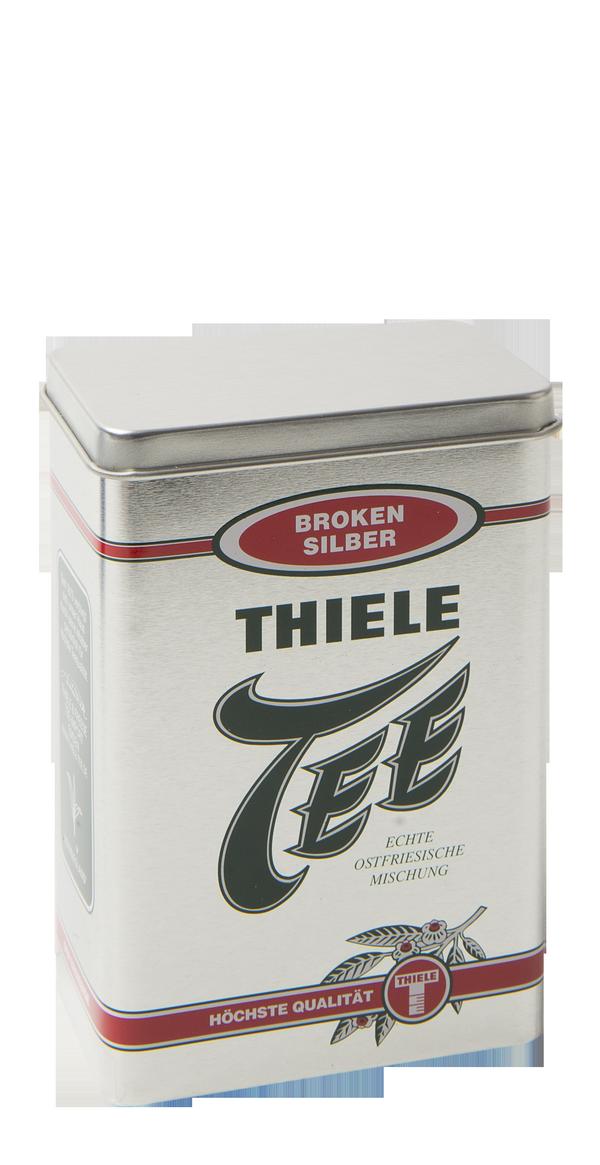 Teedose Broken Silber 100g