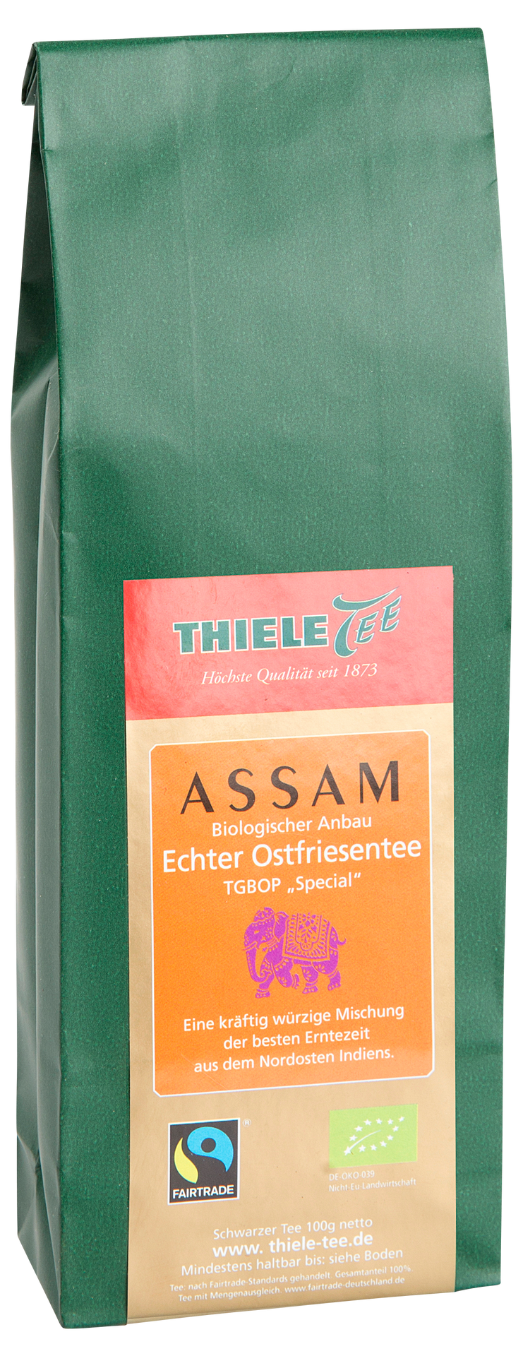 BIO FAIRTRADE Assam Second Flush 100g