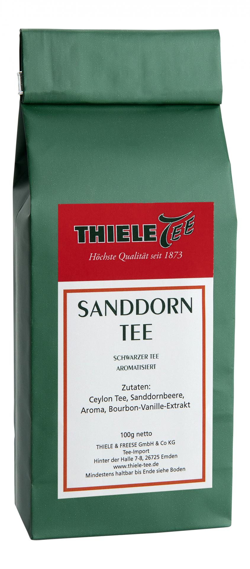 Schwarztee Sanddorn mit Vanille 100g